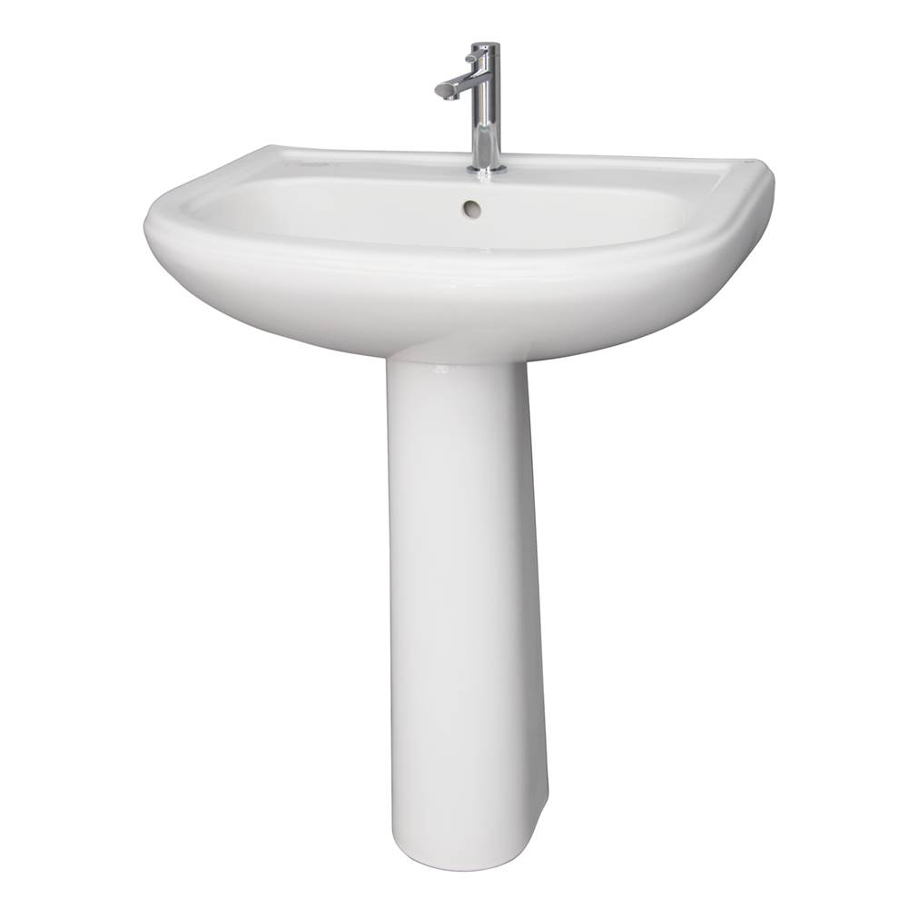 Barclay Complete Pedestal Bathroom Sinks item 3-1058WH