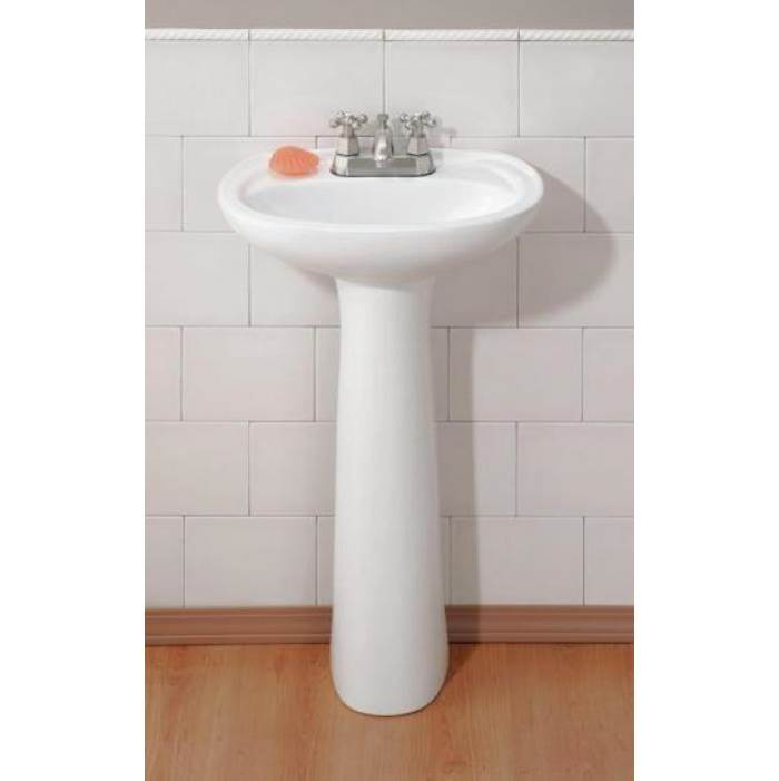 Cheviot Products Complete Pedestal Bathroom Sinks item 613-WH-1