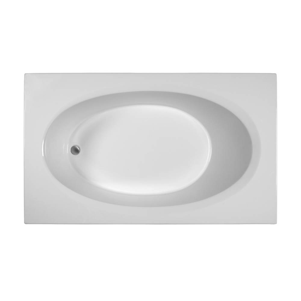 MTI Baths Drop In Air Bathtubs item MBARO7142E-WH