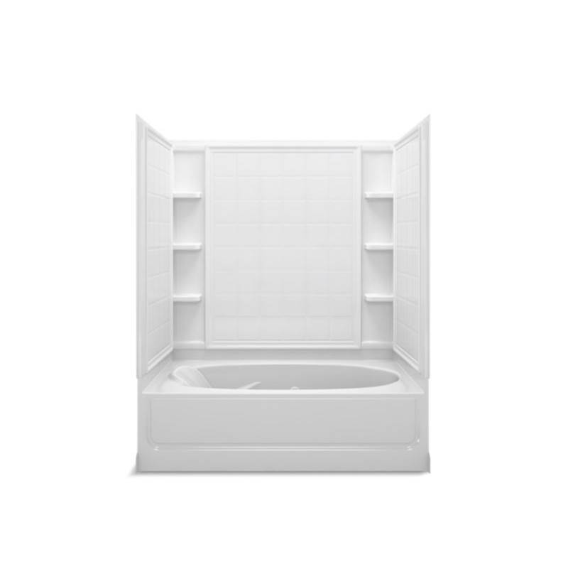 Sterling Plumbing Three Wall Alcove Whirlpool Bathtubs item 76100120-0