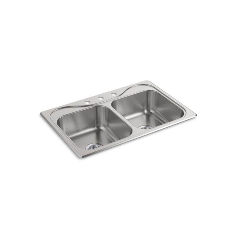 Sterling Plumbing Drop In Kitchen Sinks item 11402-3-NA