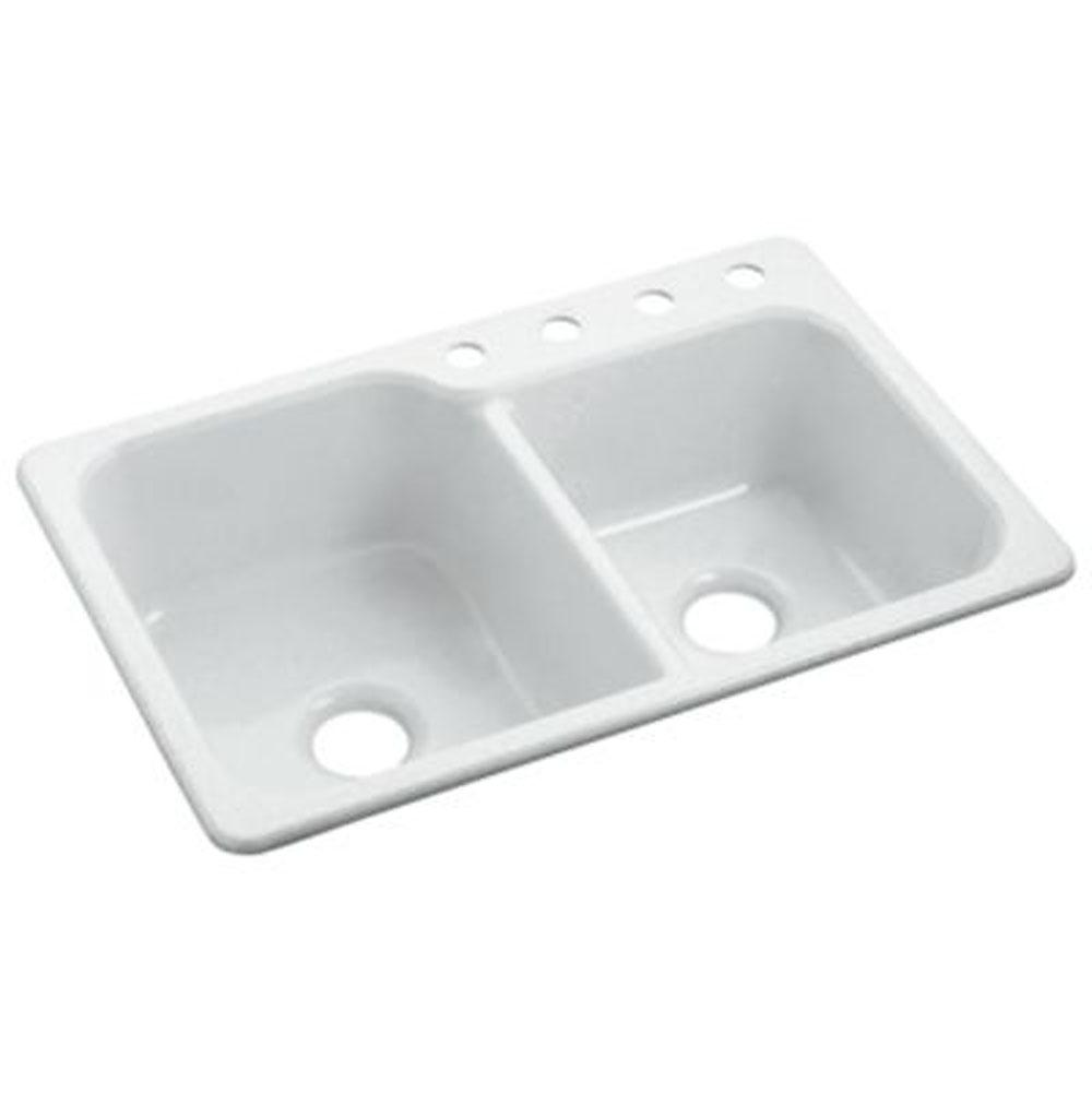 Sterling Plumbing Drop In Kitchen Sinks item SC3322DBG-96