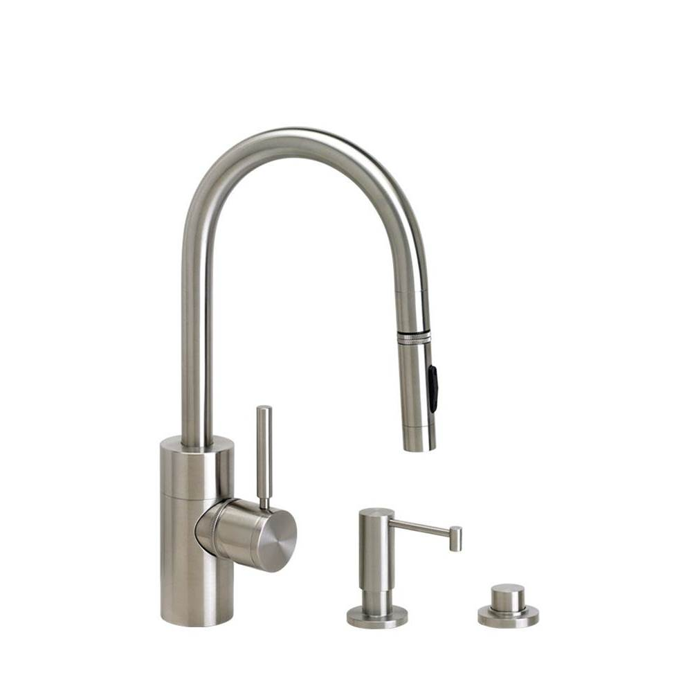 Waterstone Deck Mount Kitchen Faucets item 5900-3-PB